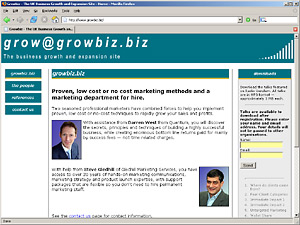 Growbiz home page