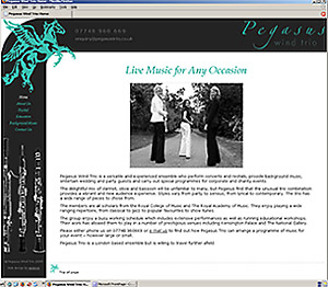 Pegasus Wind Trio home page